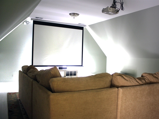 Kid Friendly Attic Theater Remodel