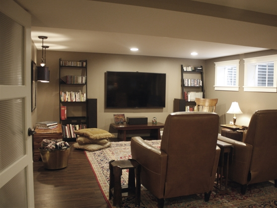 Curated Classic Basement Remodel