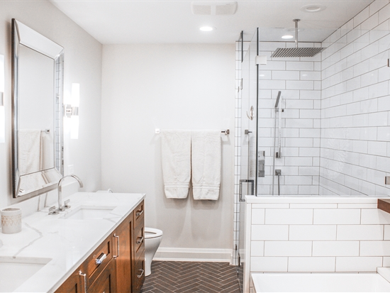 Contemporary Luxe Master Bathroom in Park Ridge